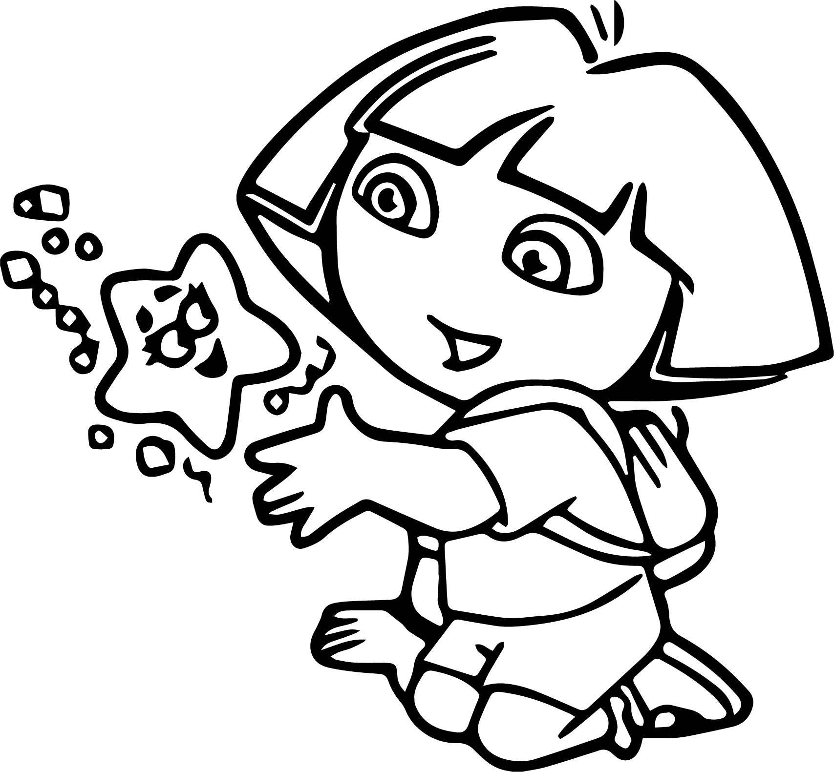 dora stars coloring pages - photo#4