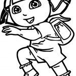 Dora The Explorer Run Dora Coloring Page