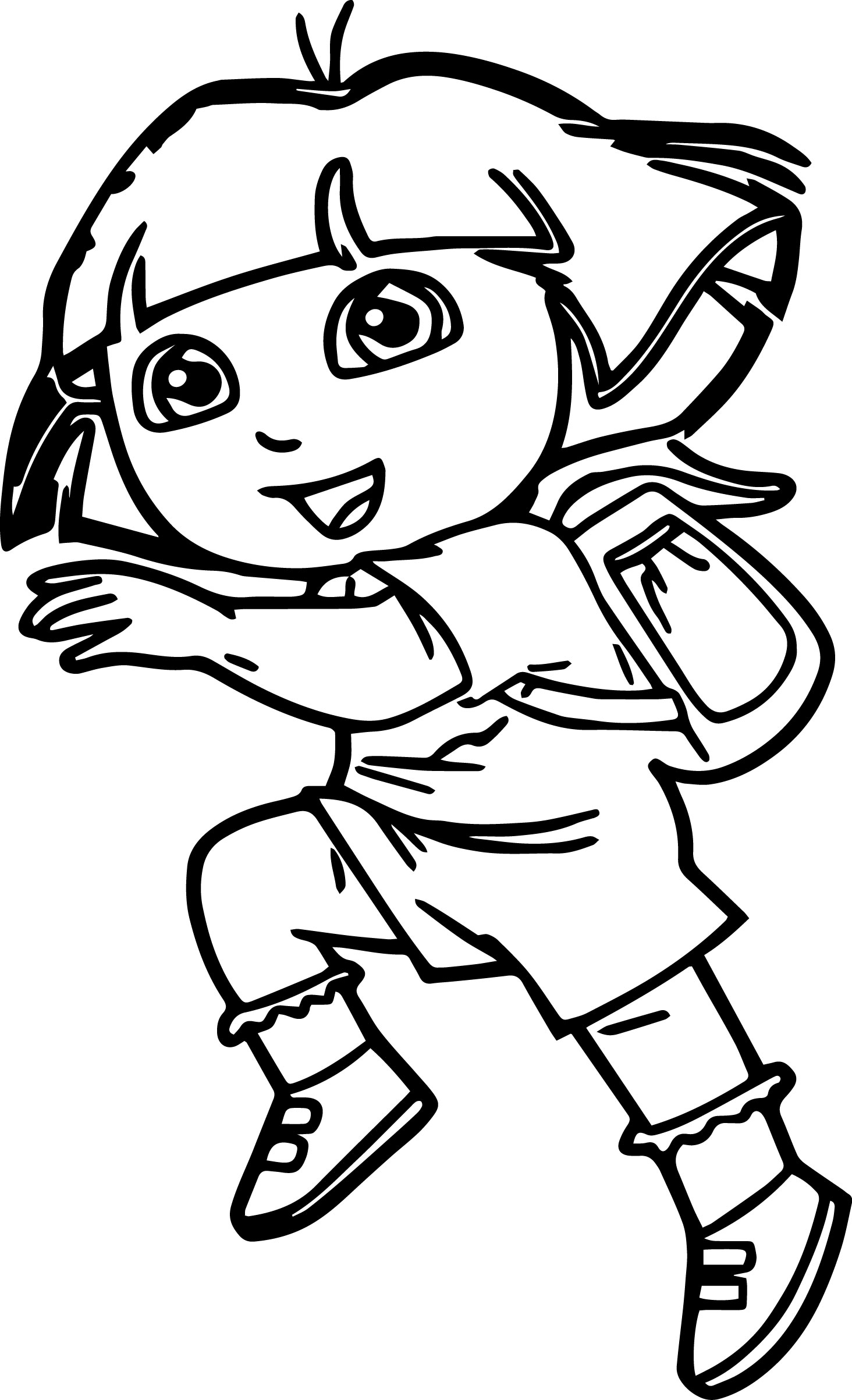 Dora The Explorer Run Dora Coloring Page