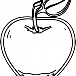 Dotted Apple Coloring Page