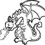Dragon Cartoon Funny Coloring Page