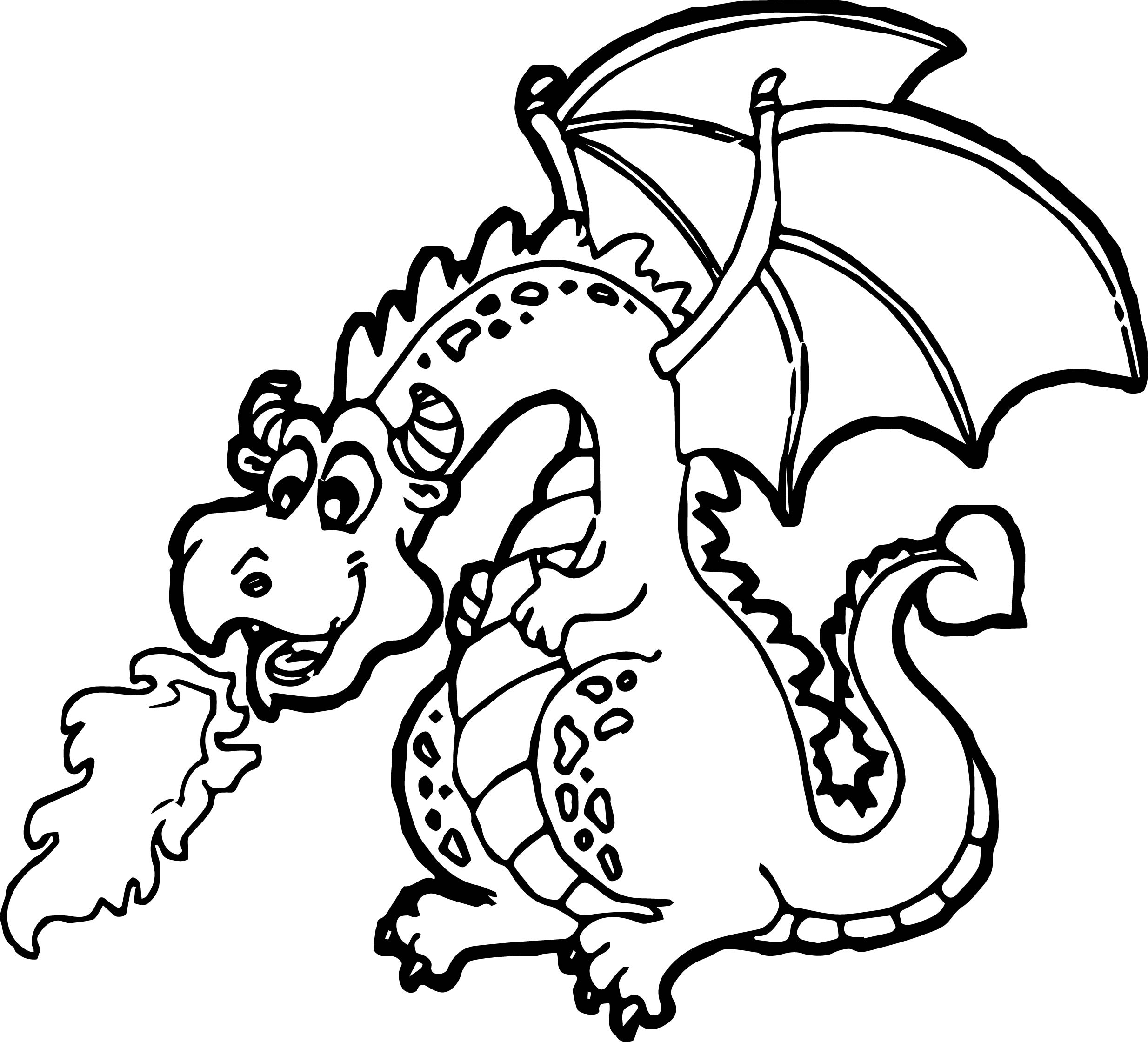 cartoon dragon coloring pages - photo#23