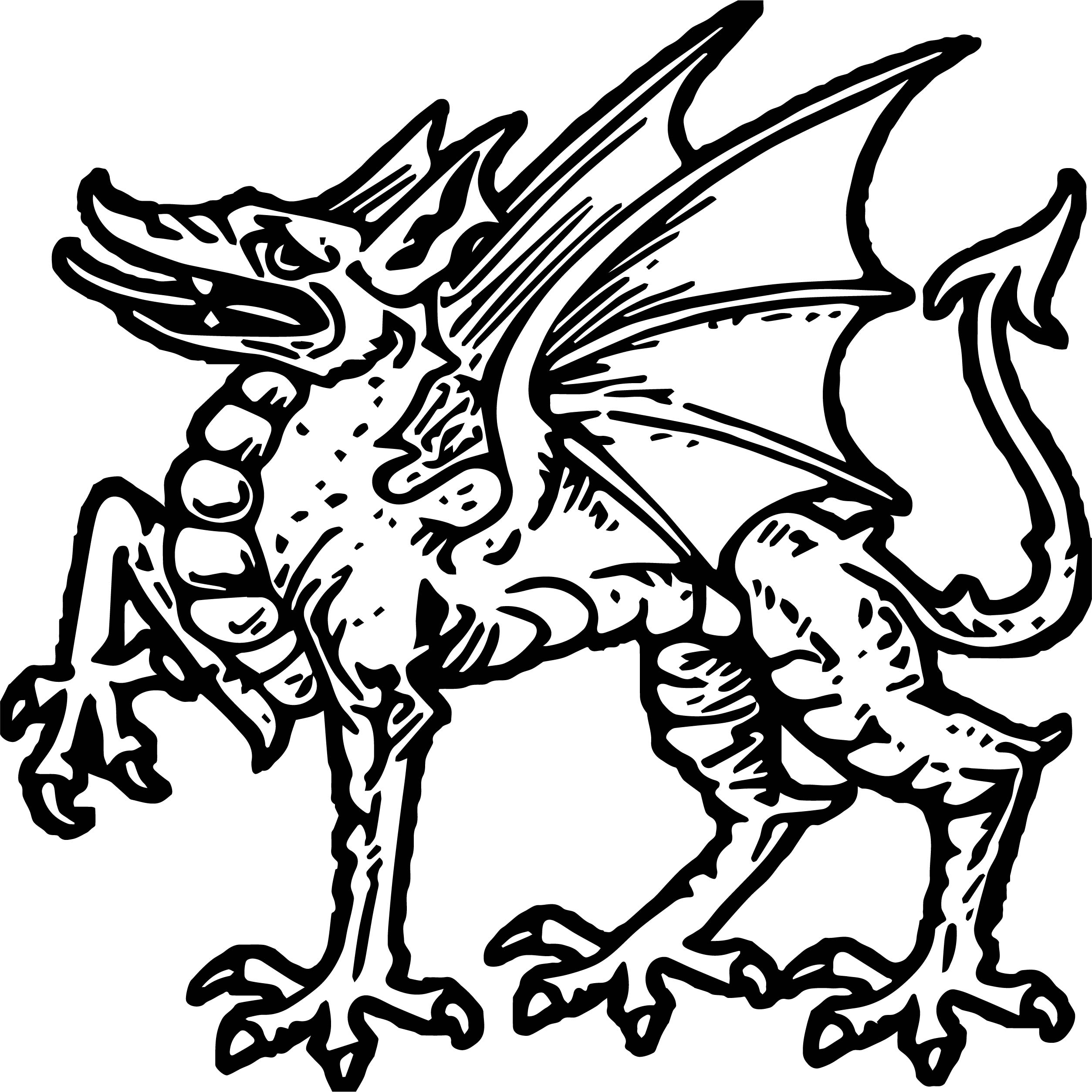 Dragon Figure Coloring Page