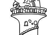 Dragon Fire Castle Coloring Page