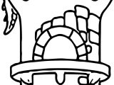 Dragon Front Castle Coloring Page