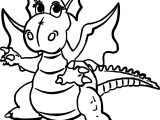 Dragon Girl Coloring Page