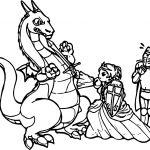 Dragon Princess Warrior Coloring Page