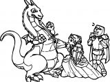 Dragon Princess Warrior Coloring Page