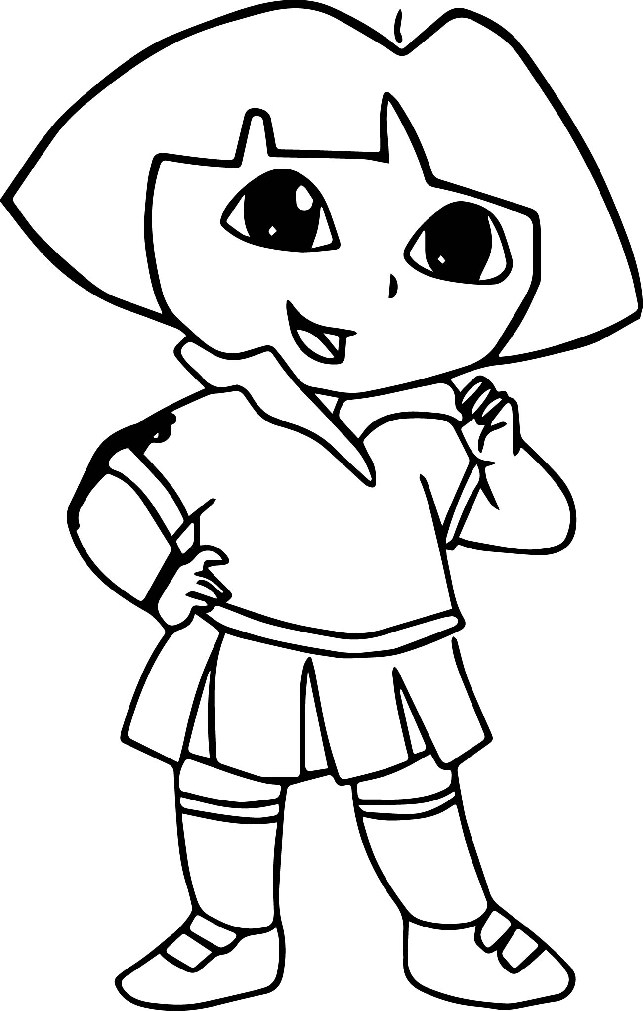 Draw Dora The Explorer Picture Coloring Page