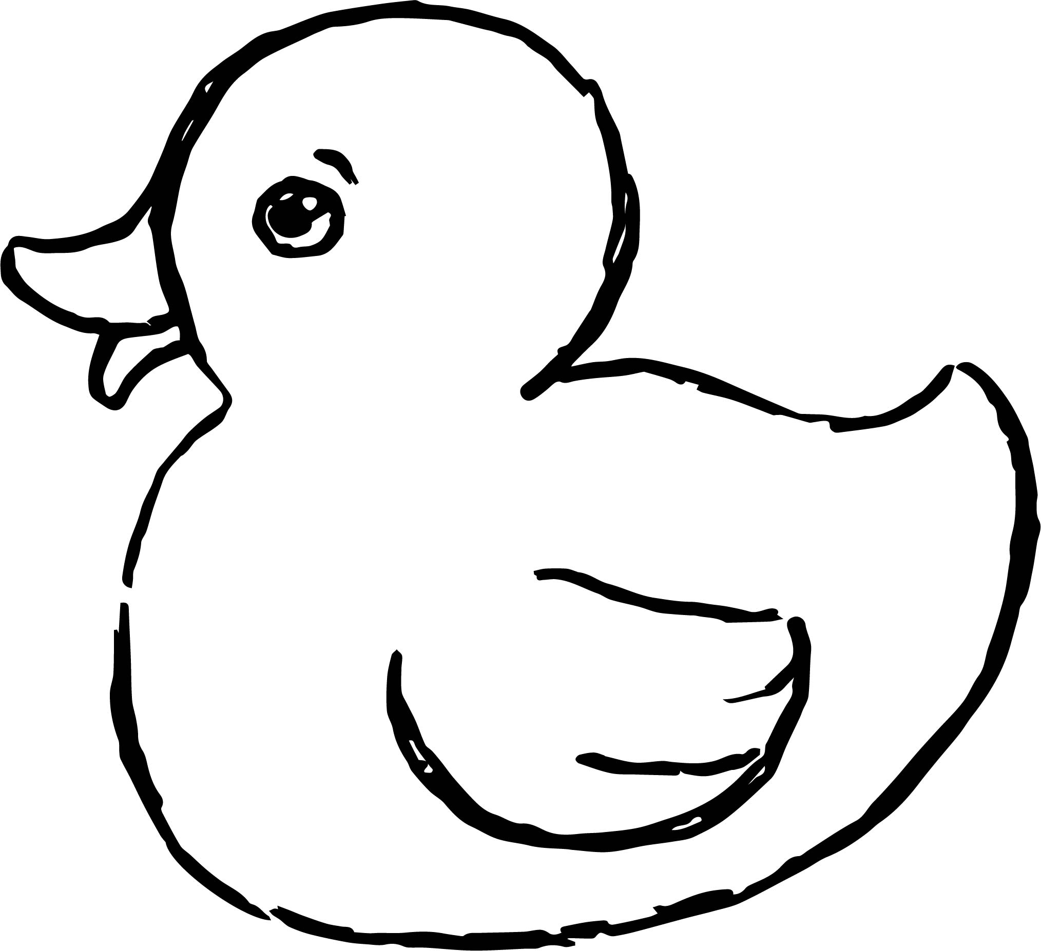 Baby Duck With Mother Coloring Page