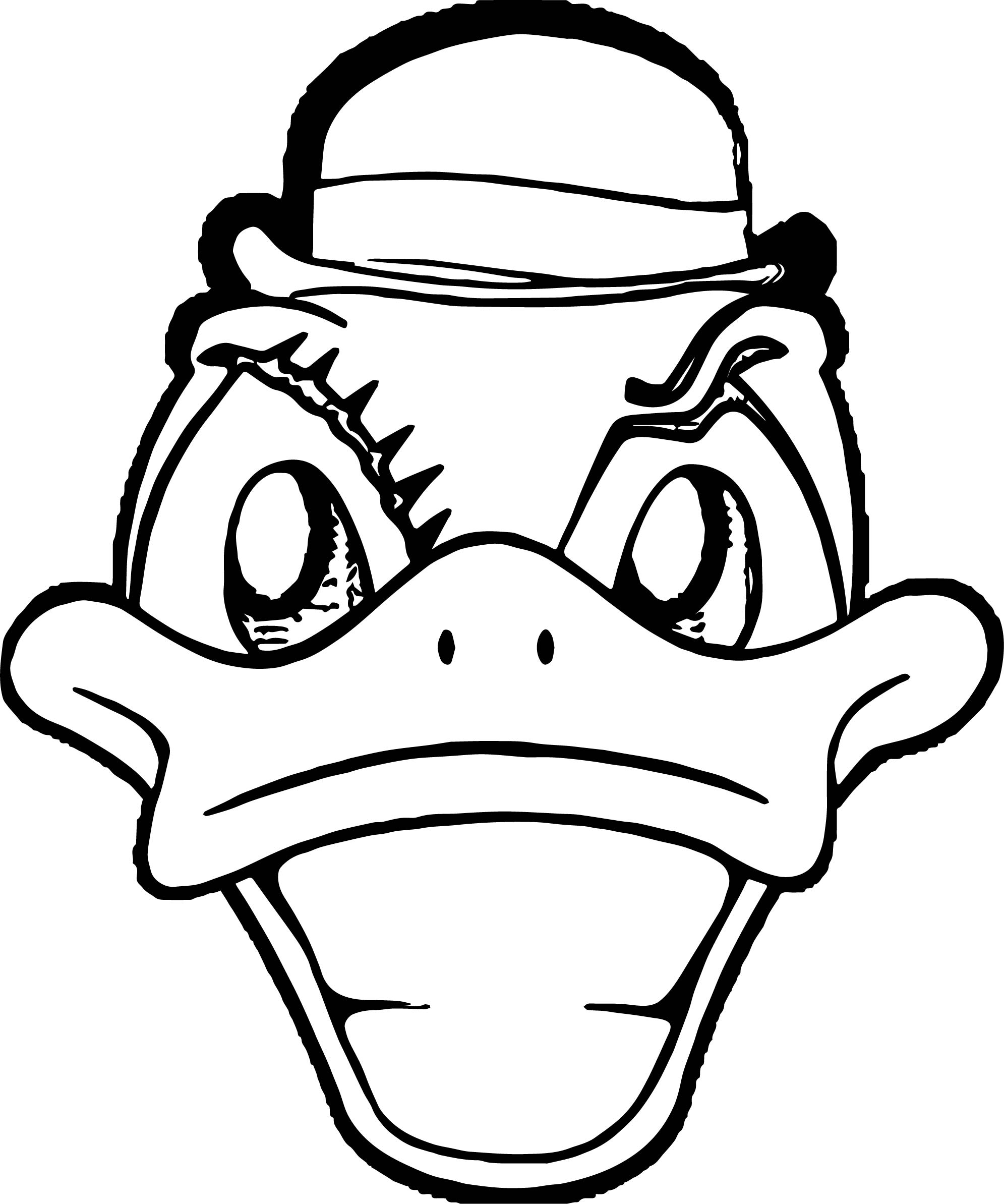 Duck Front Face Coloring Page