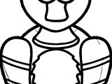 Duck Front View Cartoon Coloring Page