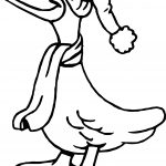 Duck Hat Coloring Page