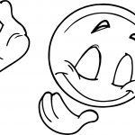 Emoticon Bowing Down Coloring Page