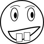 Emoticon Face Box Teeth Coloring Page