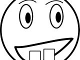 Emoticon Face Box Teeth Coloring Page