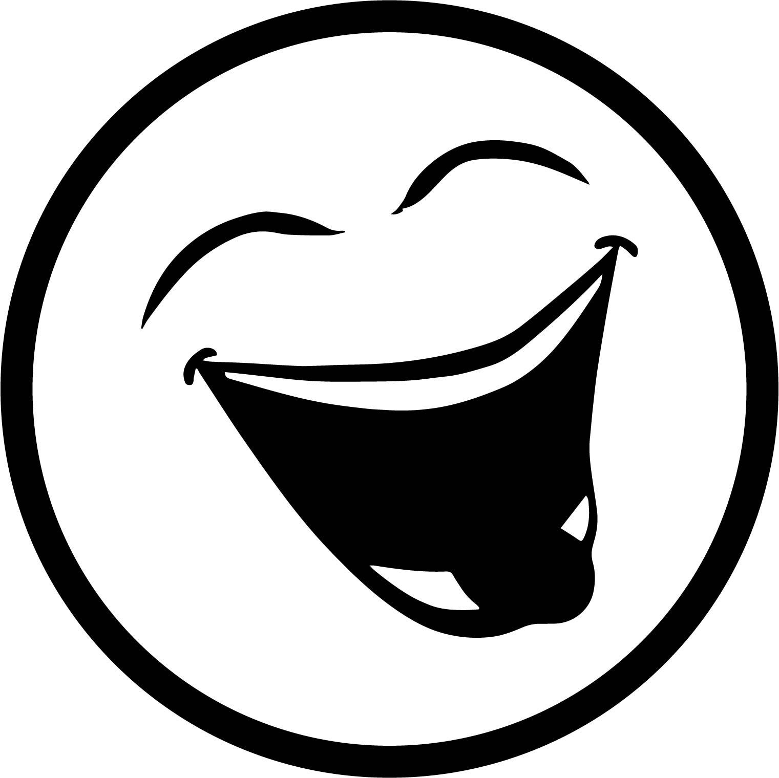 Emoticon Laugh Coloring Page