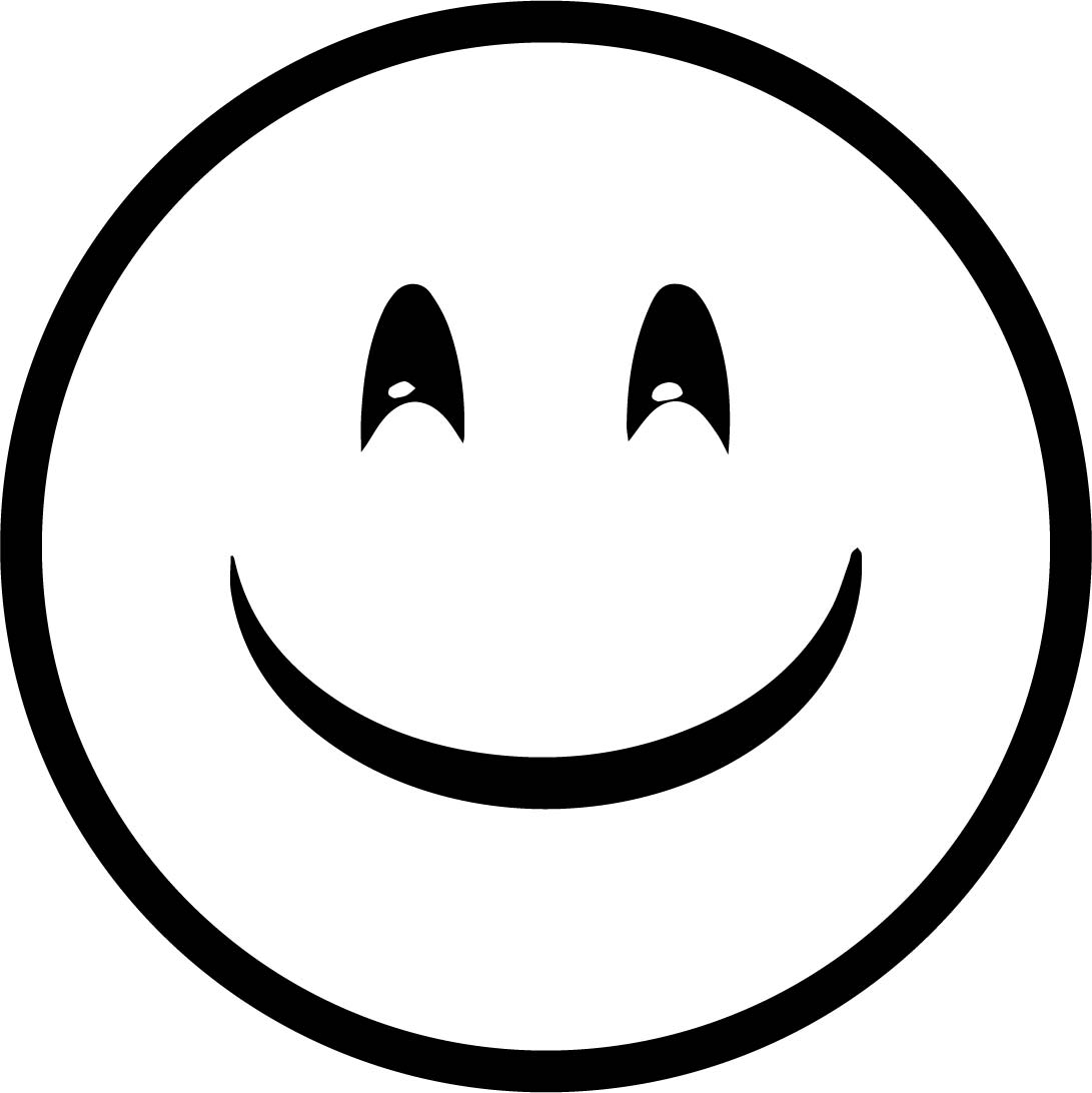 Emoticon Smile Basic Coloring Page