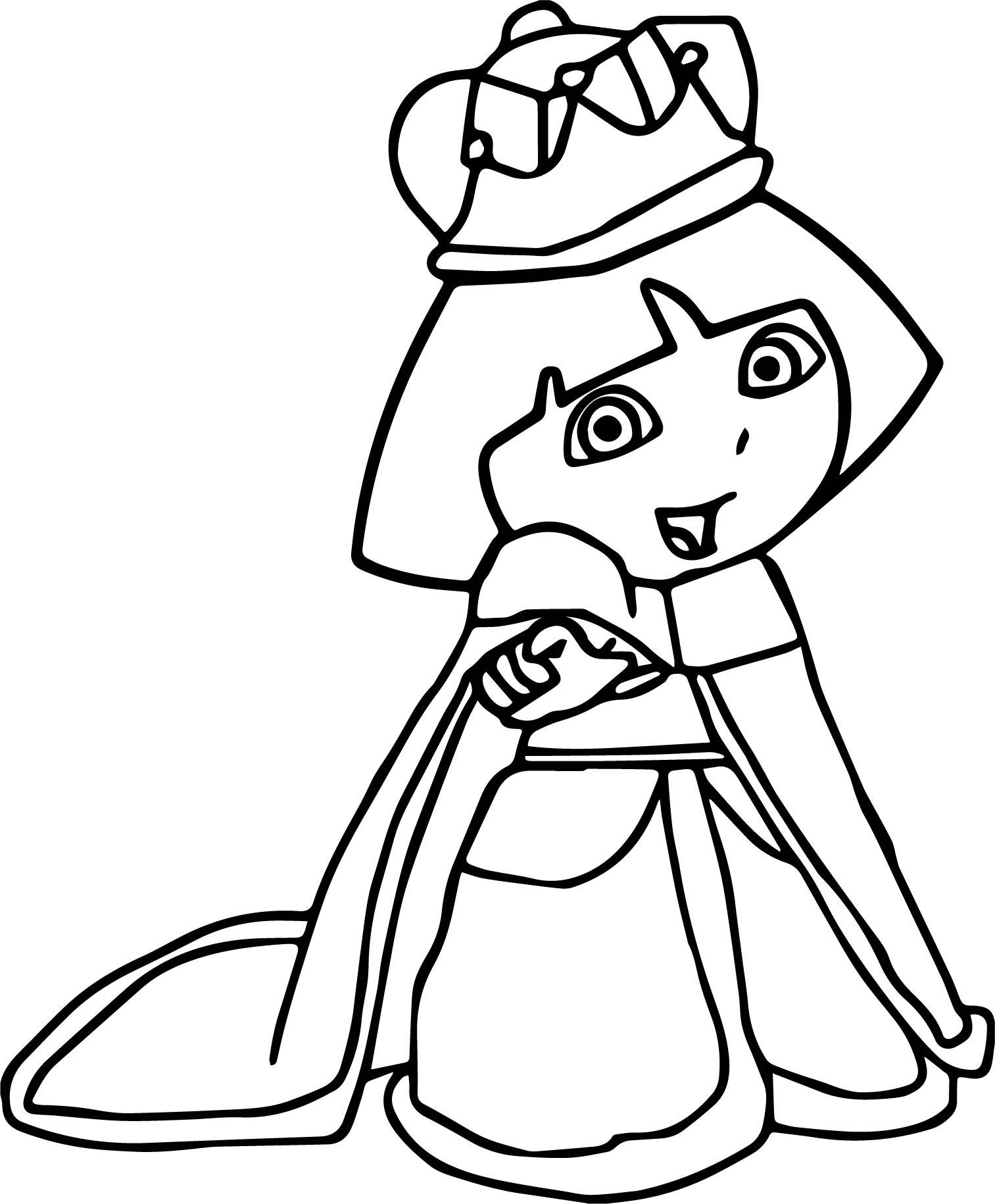 Empress Dora Dora The Explorer Coloring Page