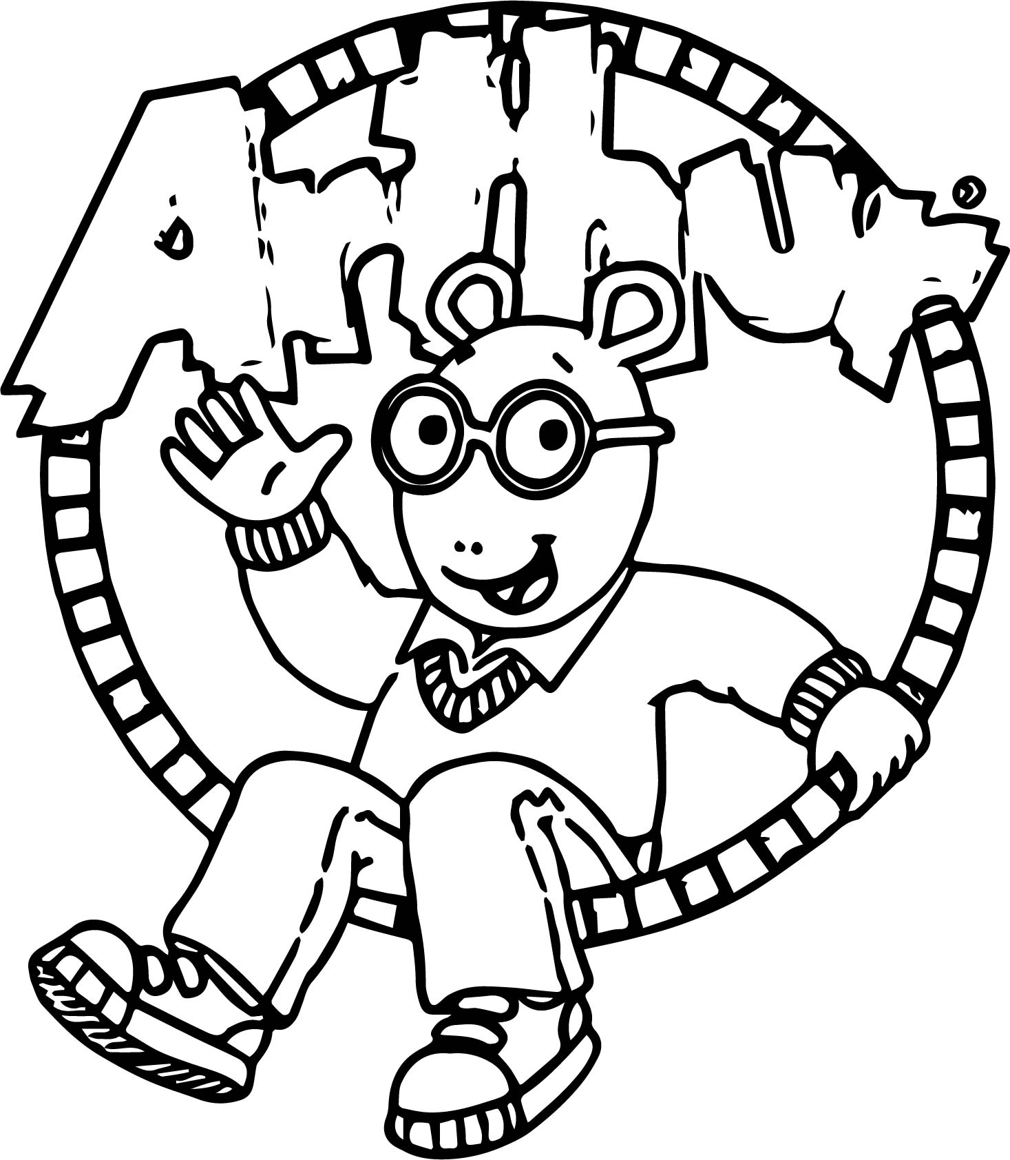 Enhanced Arthur Coloring Page