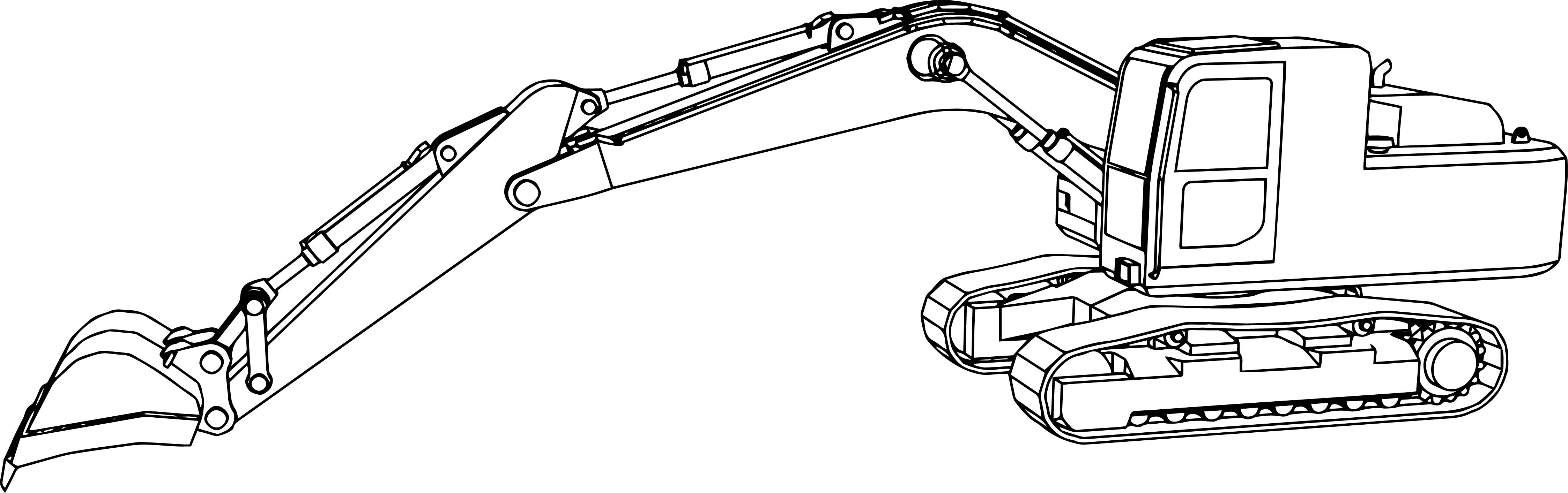 Excavator Side Coloring Pages