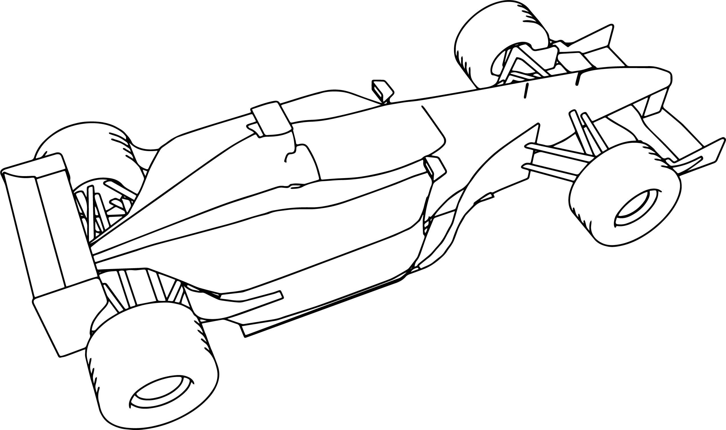 F1 Sauber 2001 Formula Sport Car Coloring Page