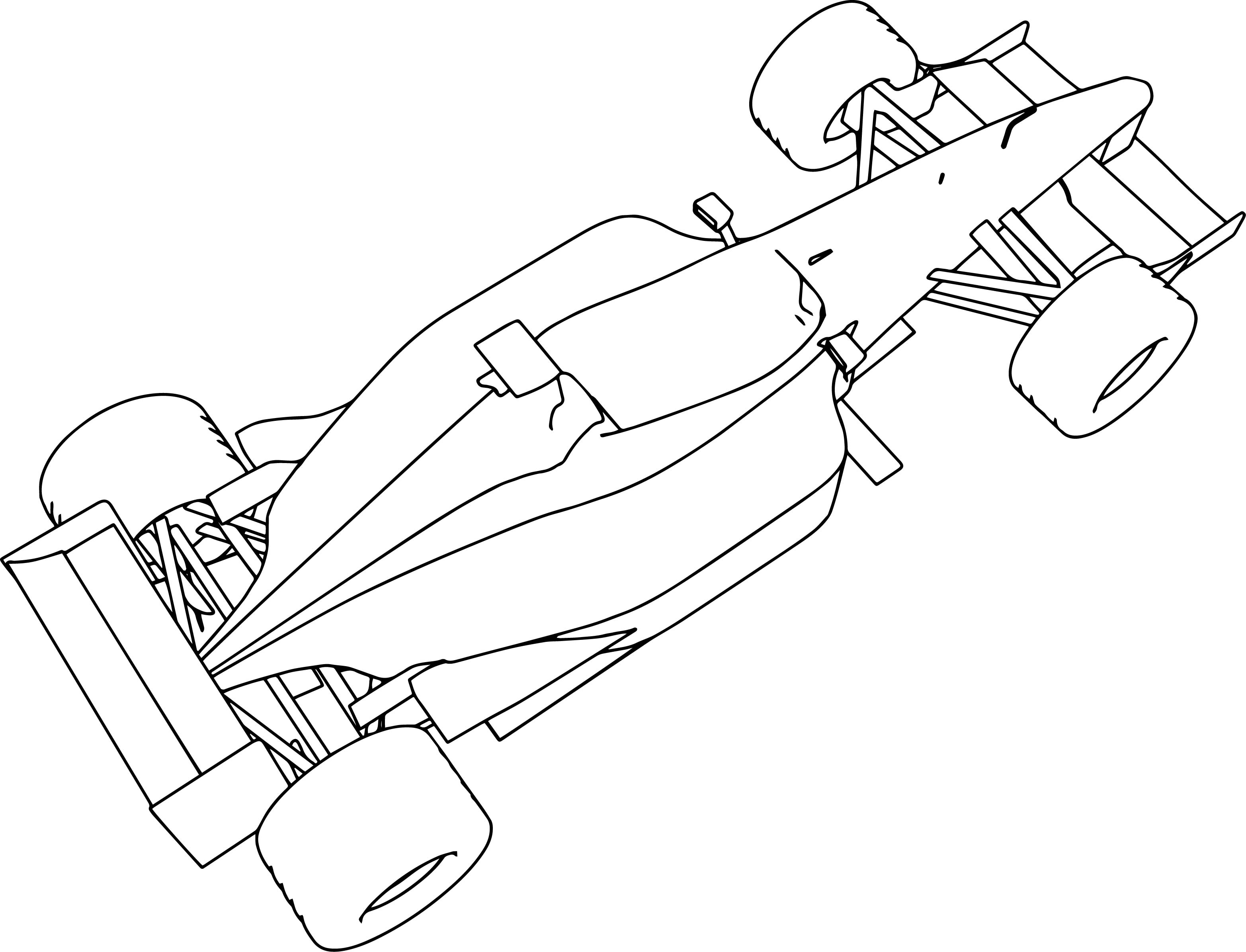 f1 williams 2001 formula sport car coloring page