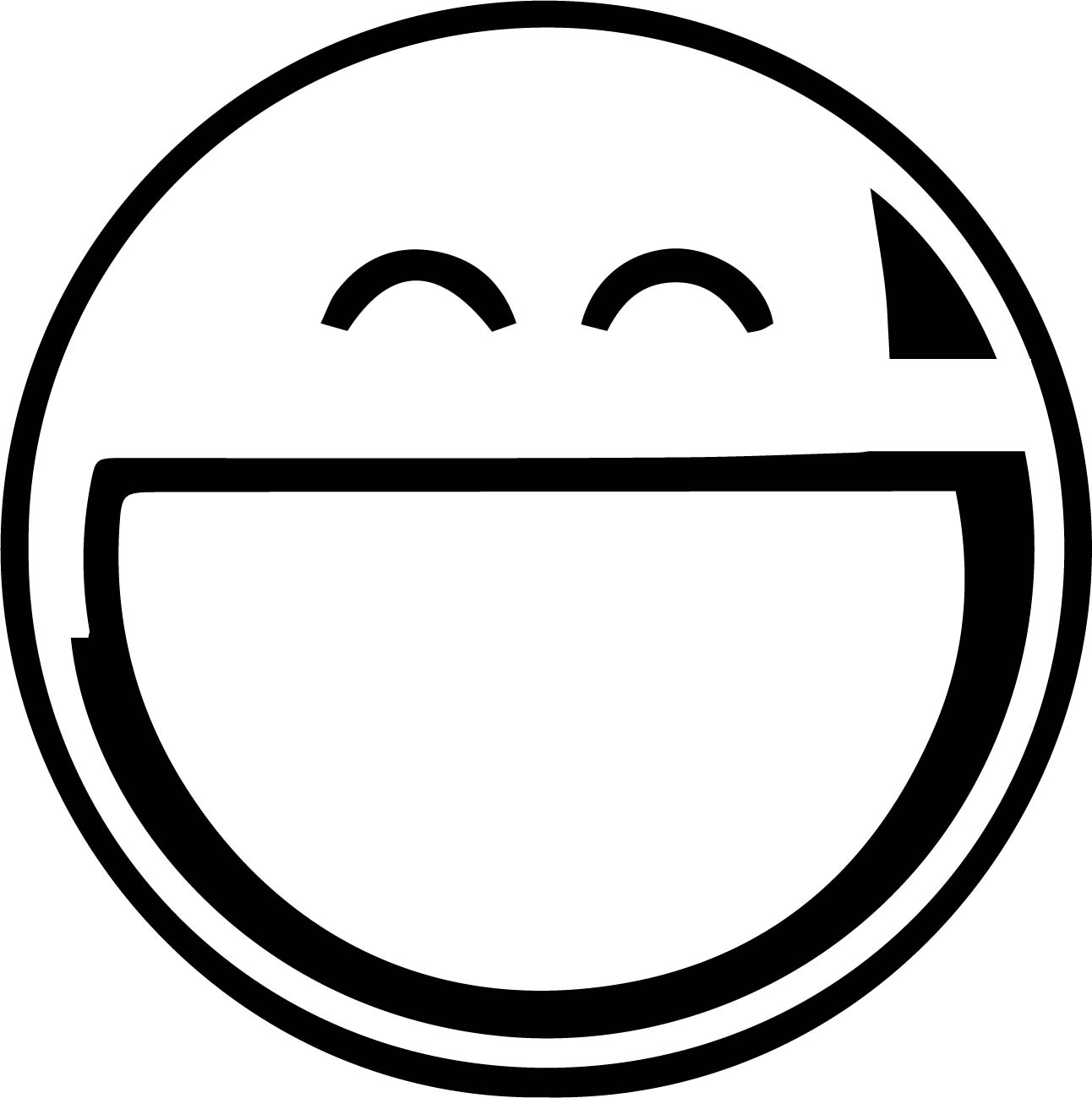 Face Grin Coloring Page