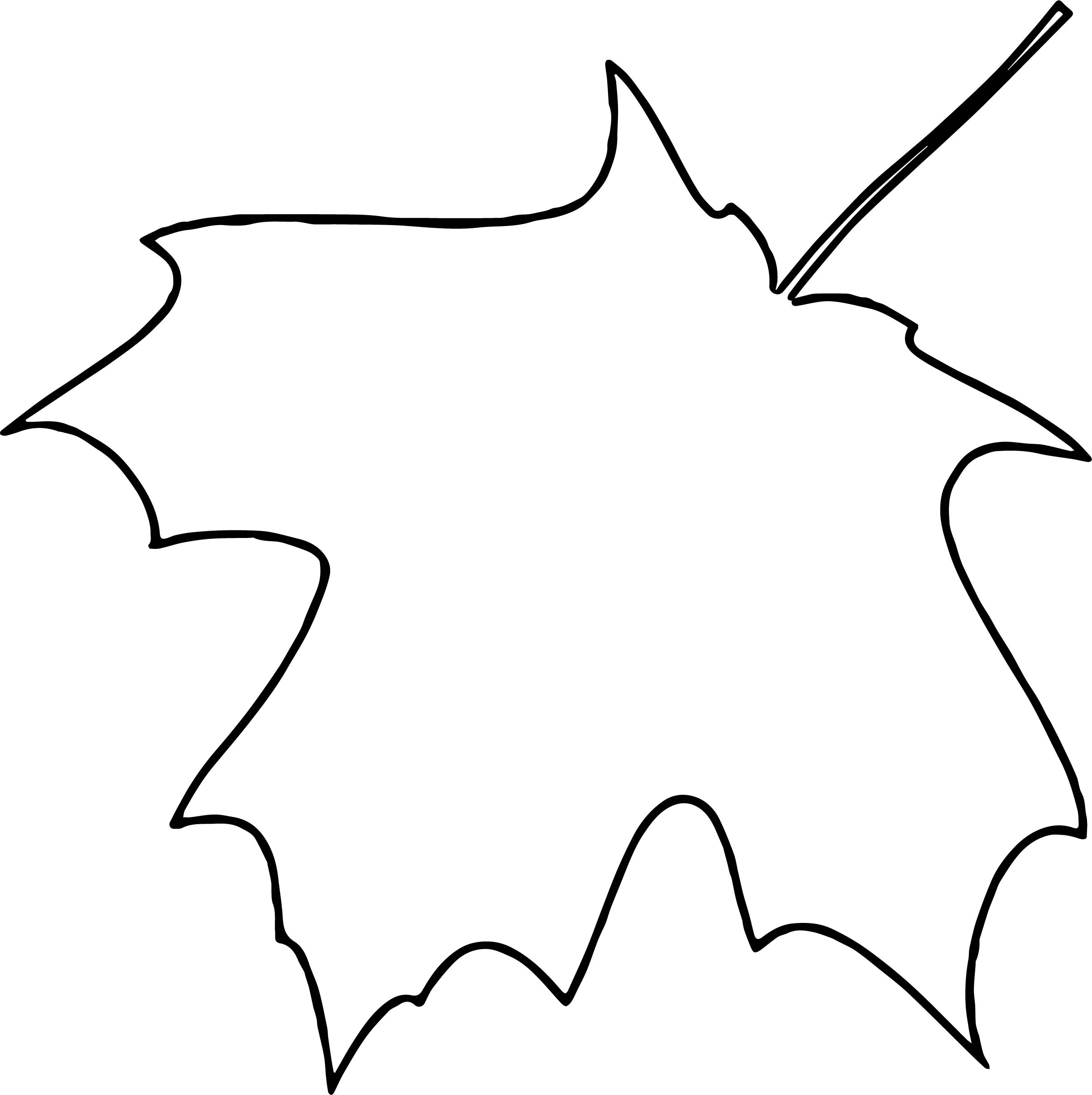 Coloring Page Pumpkin Leaves