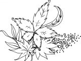 Fall Leaves Decor Picture Coloring Page