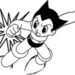 Fighting Astro Boy Printable Cartoon Coloring Page