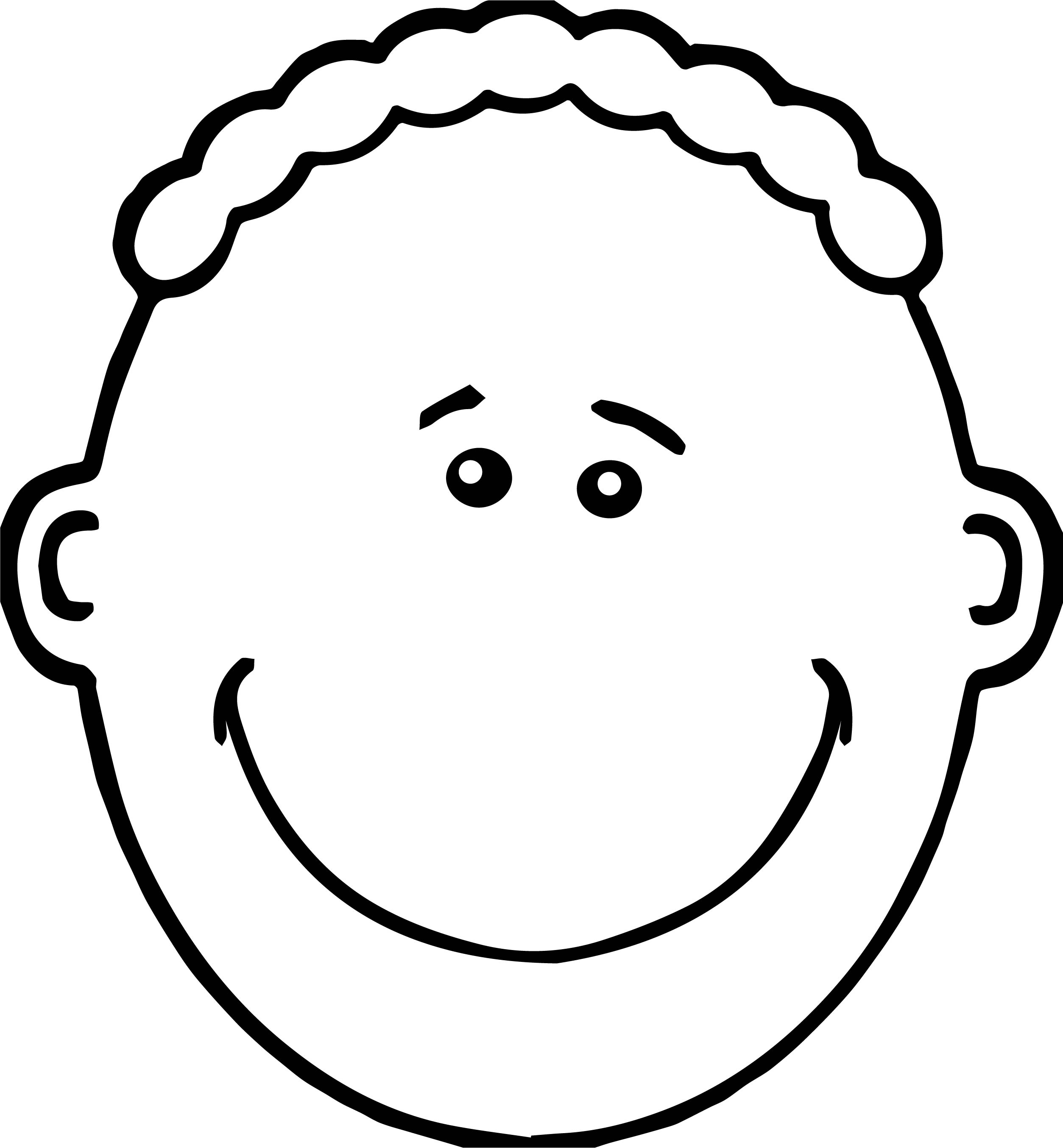 Fine Boy Face Coloring Page