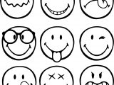 First Graphical Emoticons Smiley Coloring Page