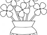 Flowerpot Flower Coloring Page