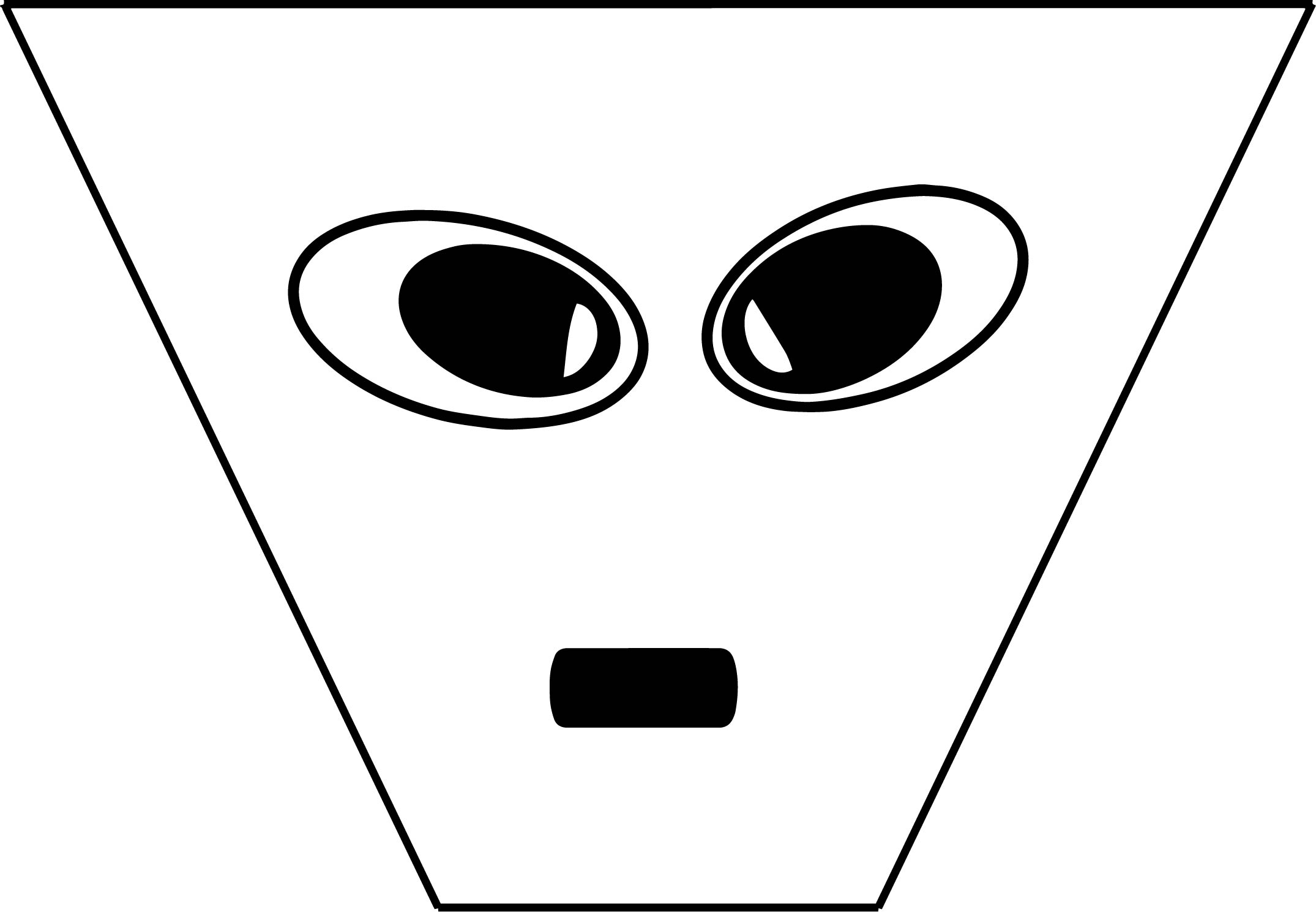 Free 3d Extra Terrestrial Smiley Face Illustration Coloring Page