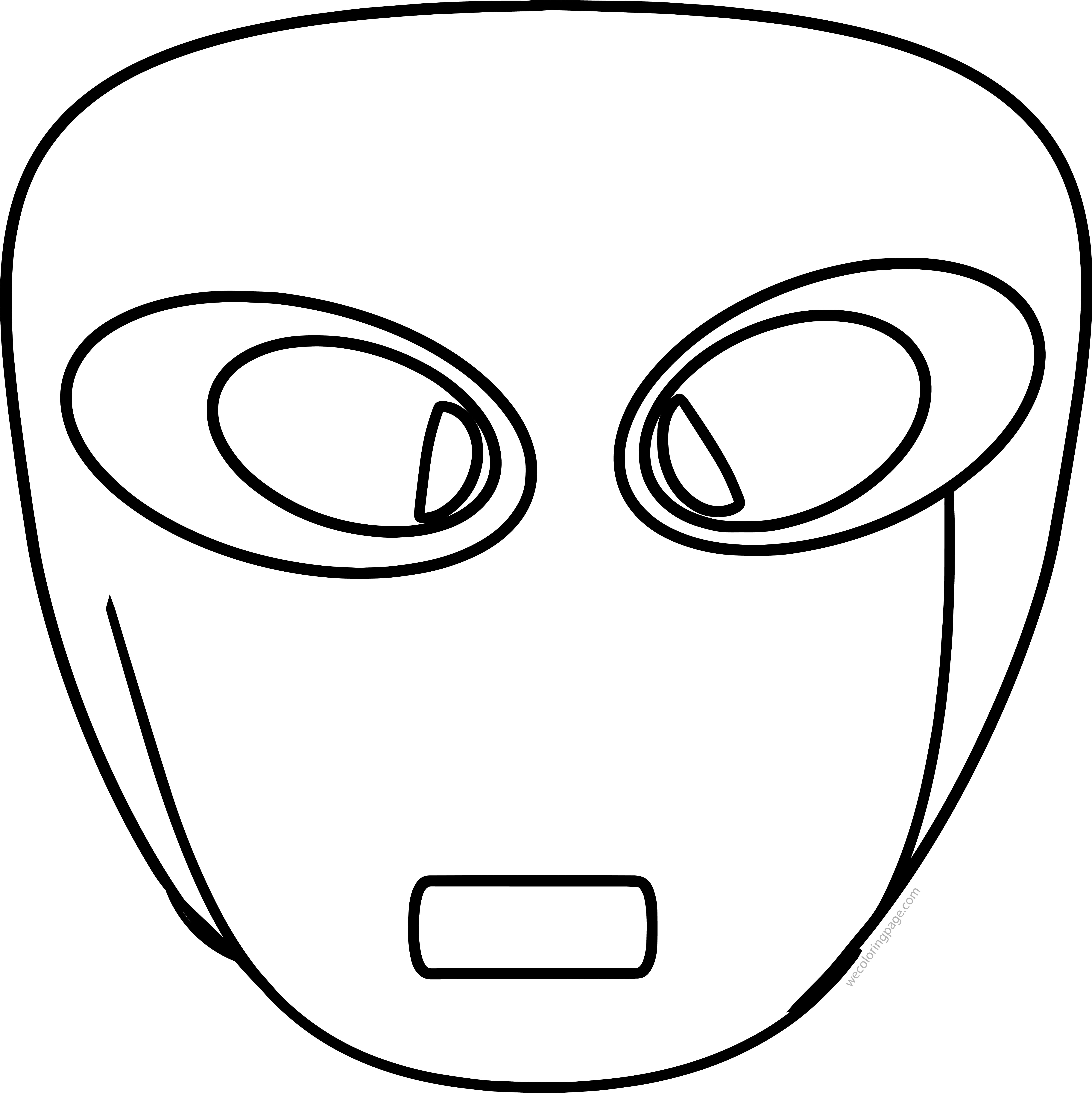 Free Extra Terrestrial Smiley Face Illustration Coloring Page ...