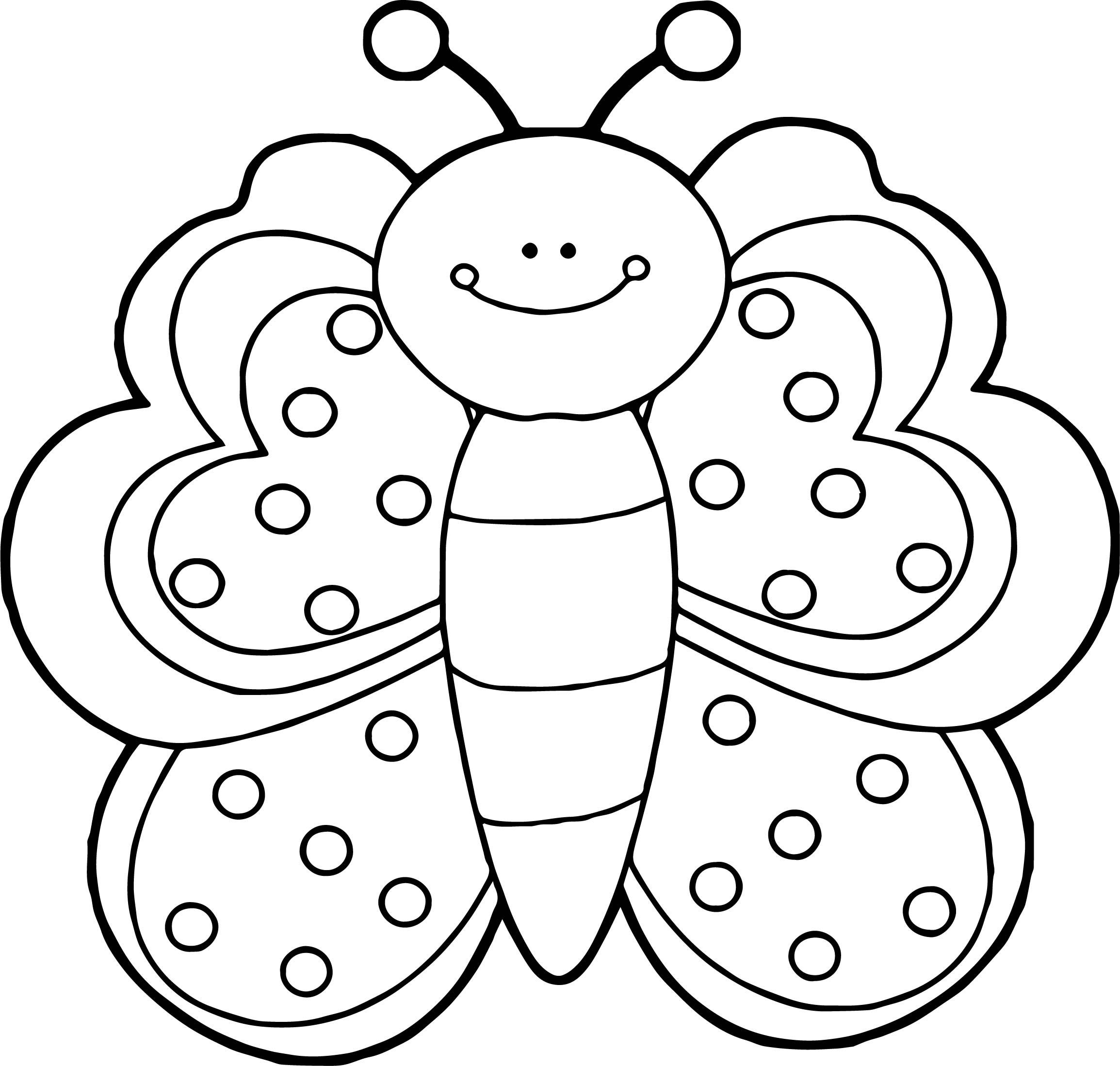 Front view butterfly coloring page for Butterfly coloring pages