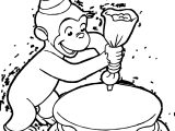 George Cake Colored Coloring Page