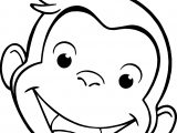 George Monkey Face Coloring Page