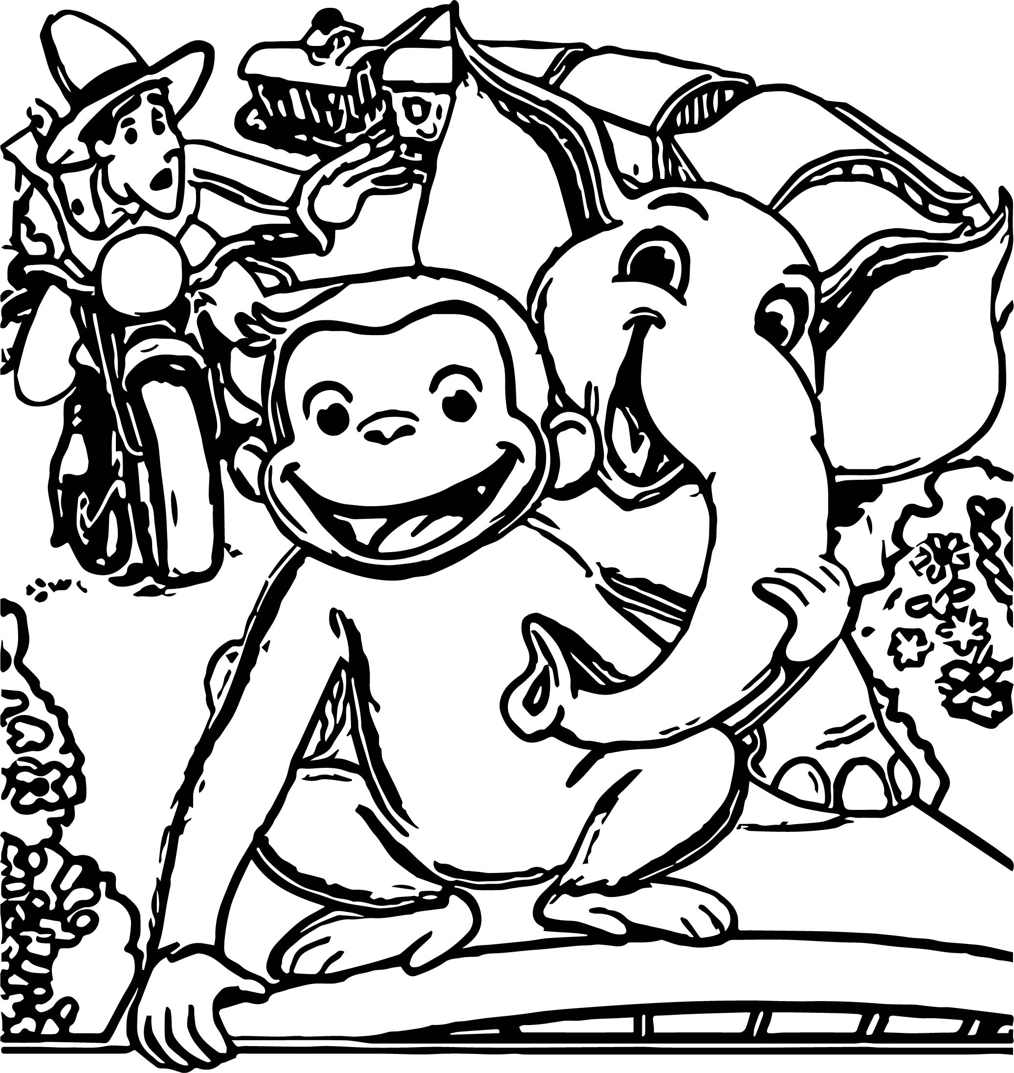 george of the jungle cartoon follow that monkey and elephant