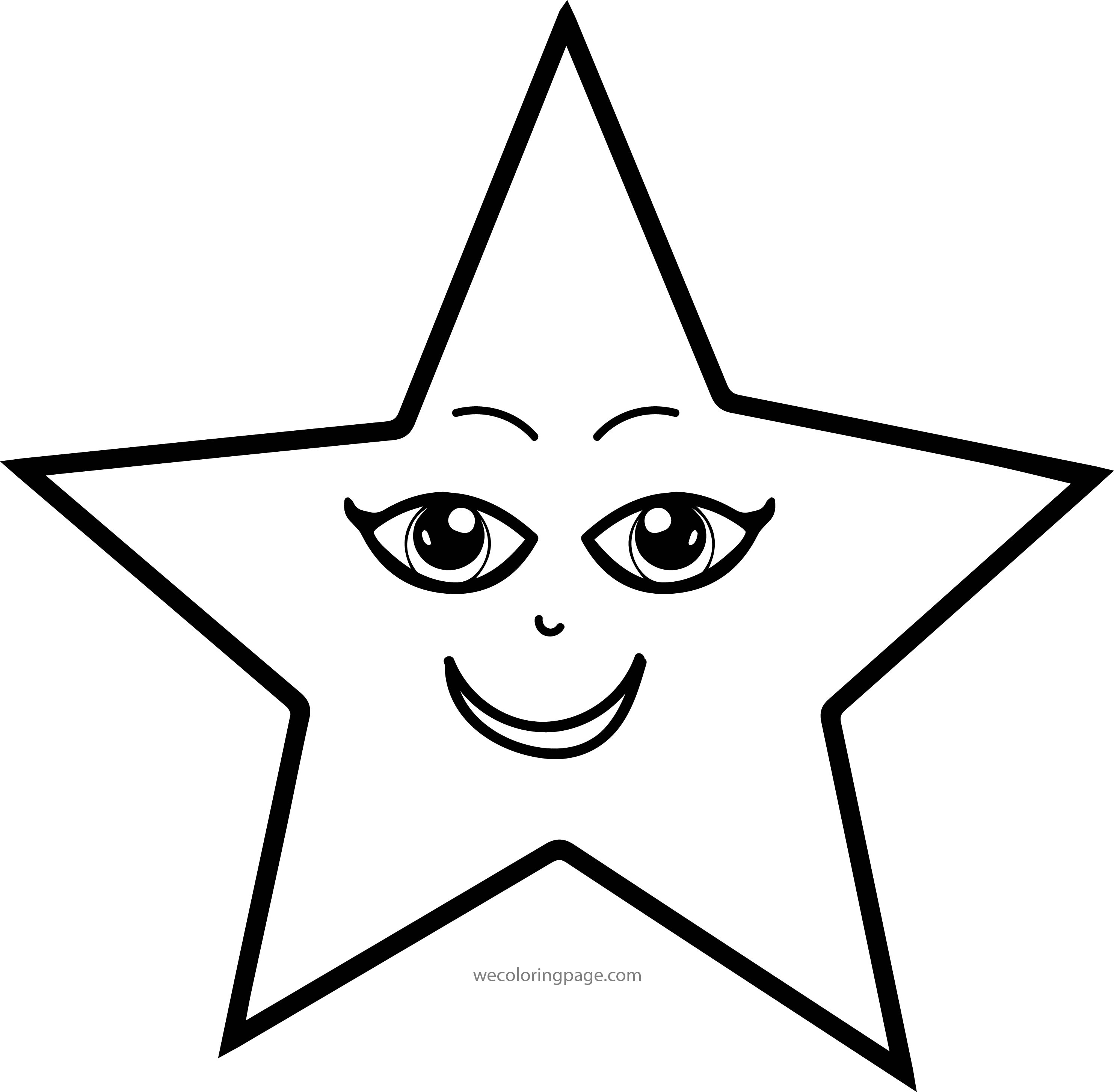 Girl Star Eye Coloring Page