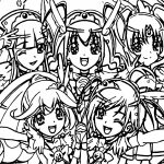 Glitter Force Five Girls Photo Coloring Page