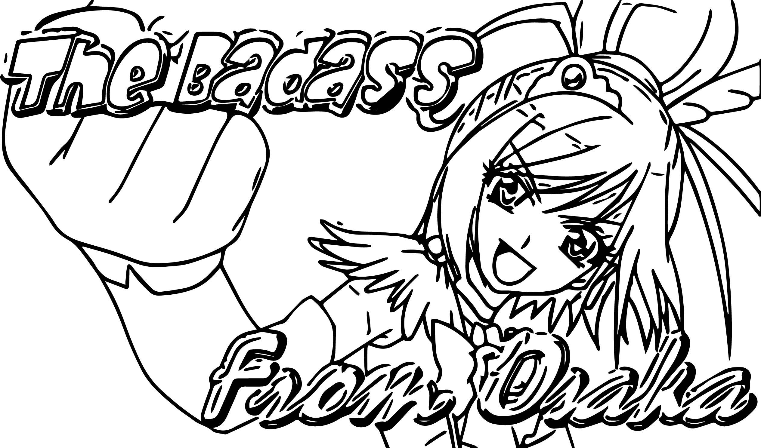 Glitter Force Osaka Coloring Page