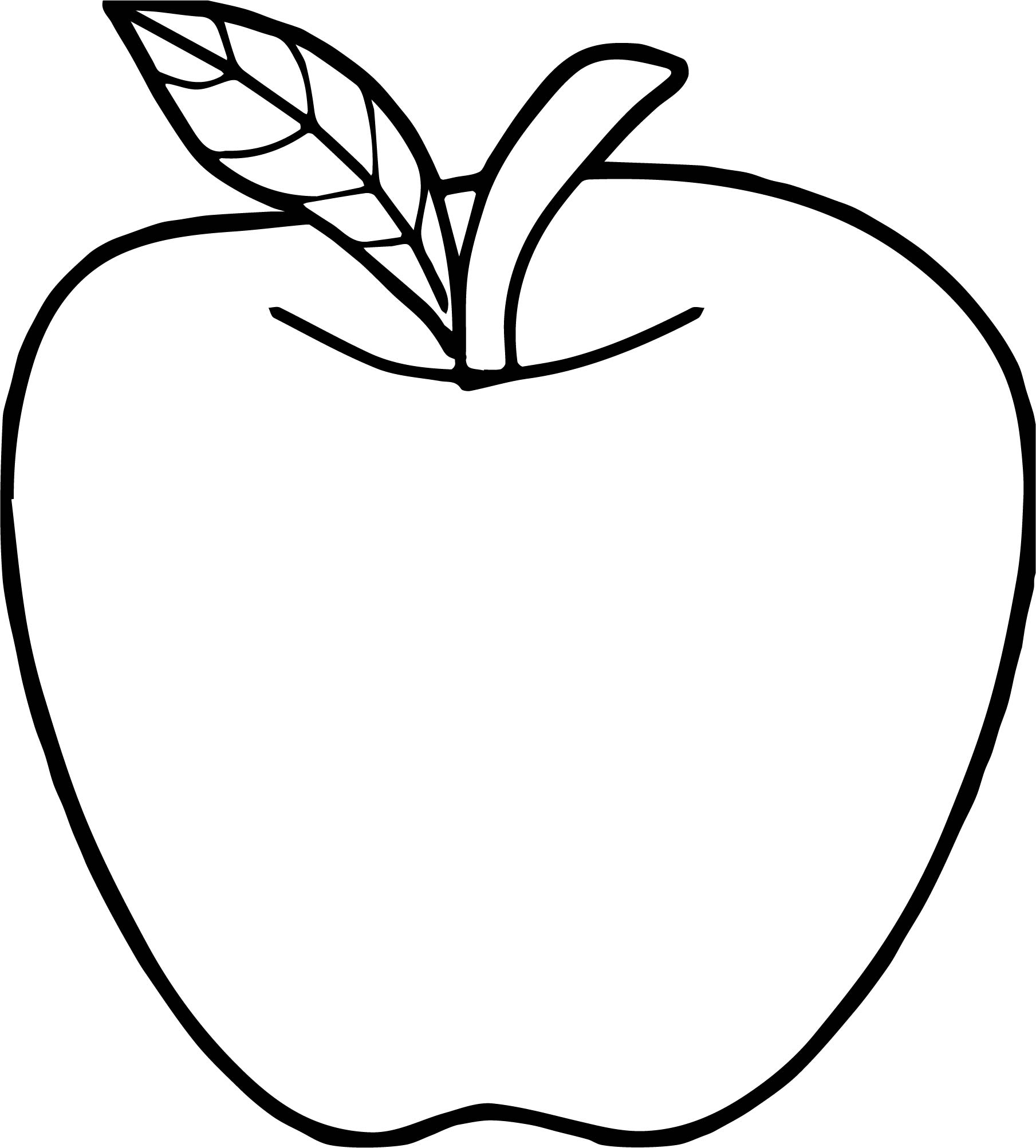 Good apple coloring page for Apple coloring pages