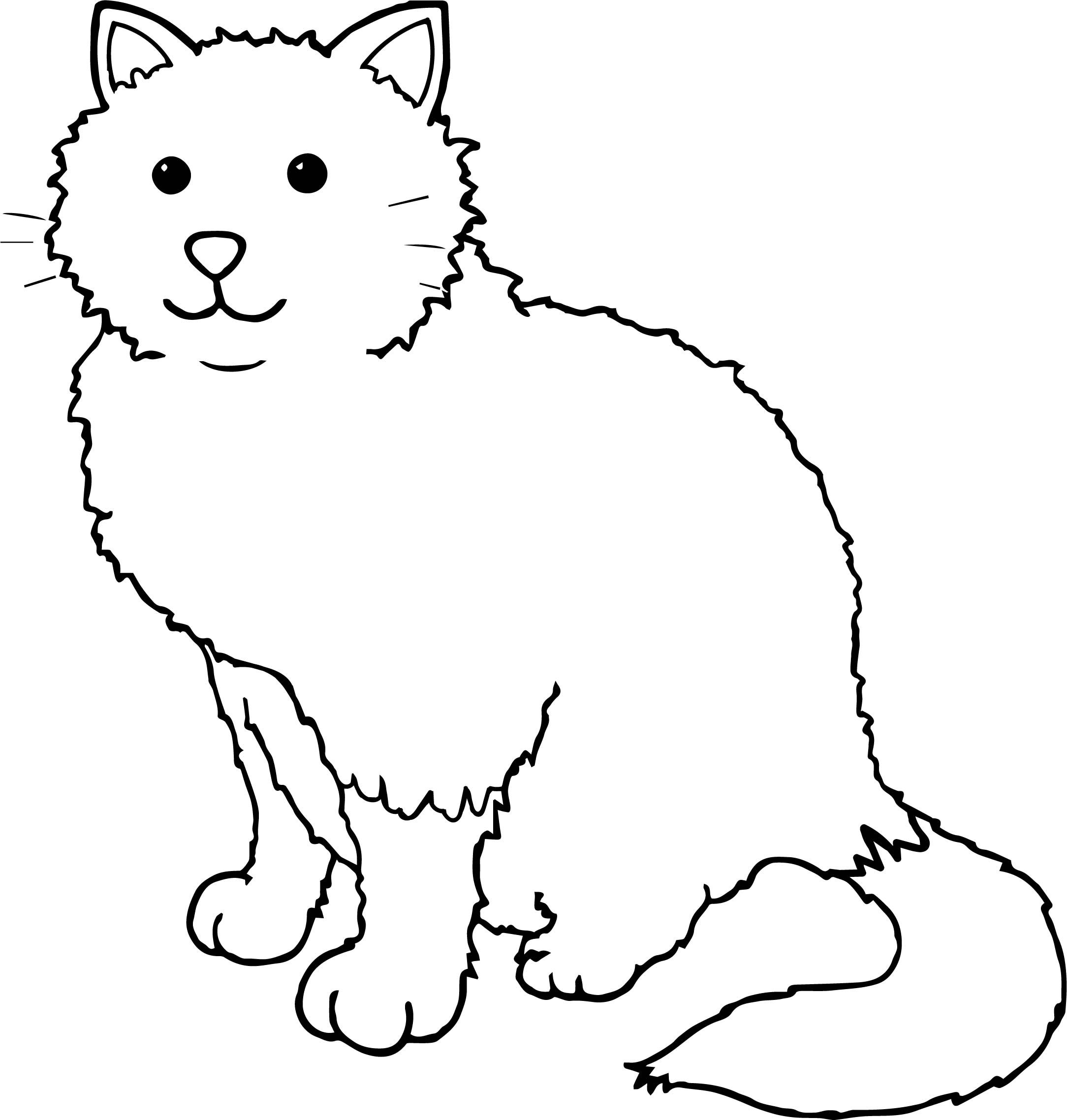 Good Cat Coloring Page