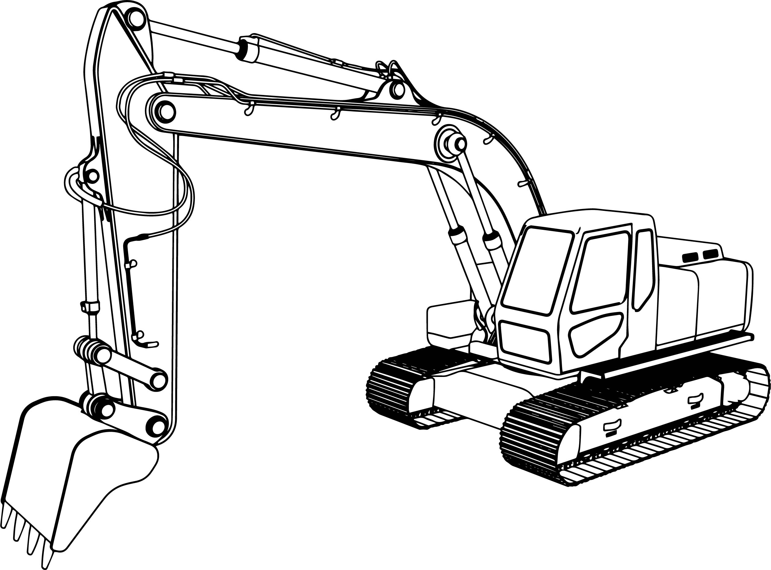 Good Excavator Coloring Pages