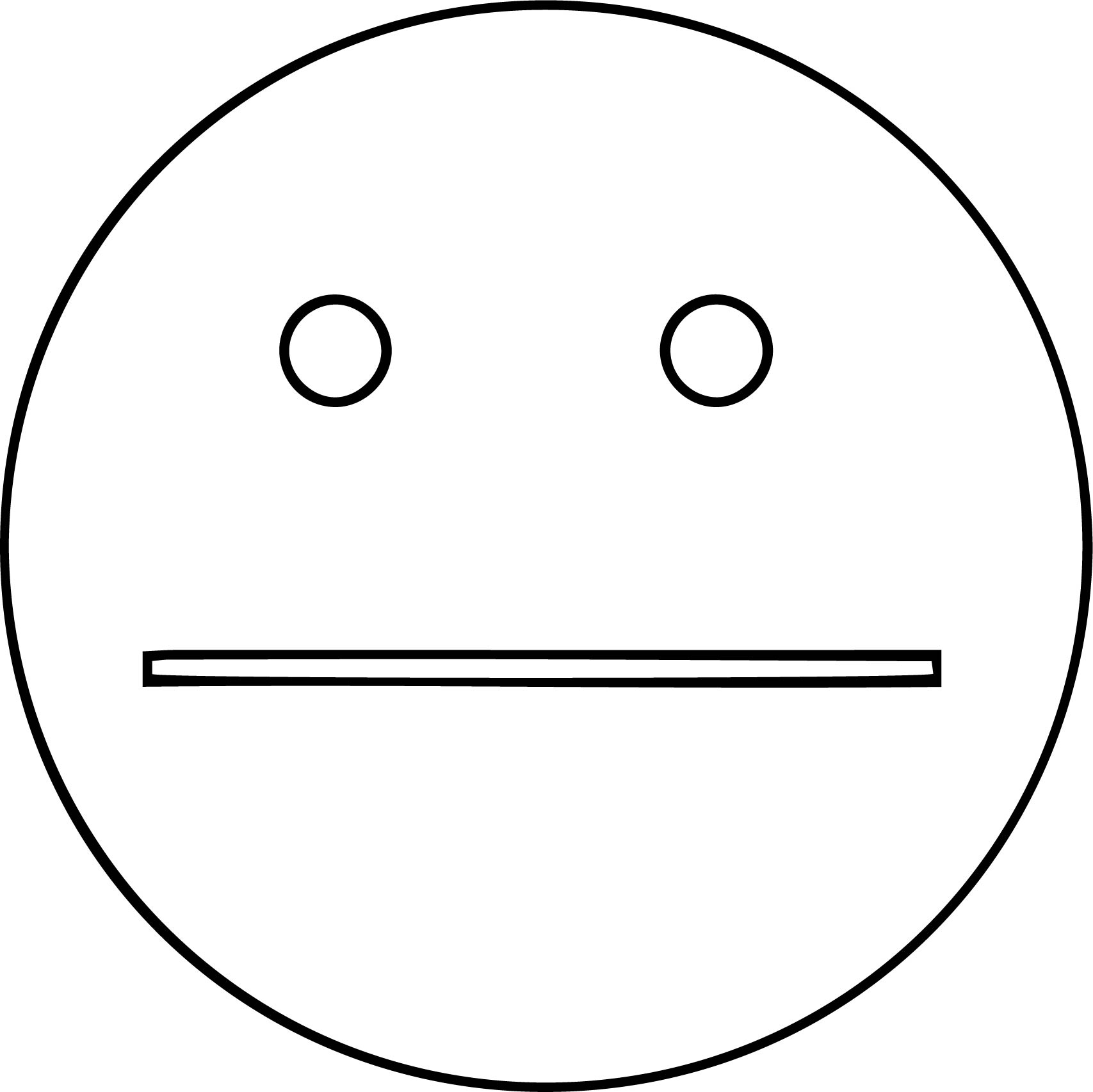 Happy And Sad Face Free Images Coloring Page | Wecoloringpage