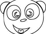 Happy Dog Face Free Image Coloring Page