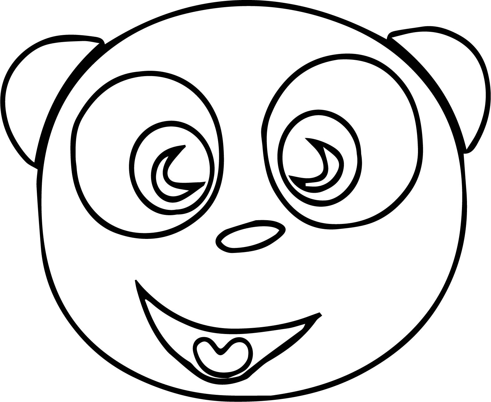 Happy Dog Face Free Image Coloring Page Wecoloringpage Com