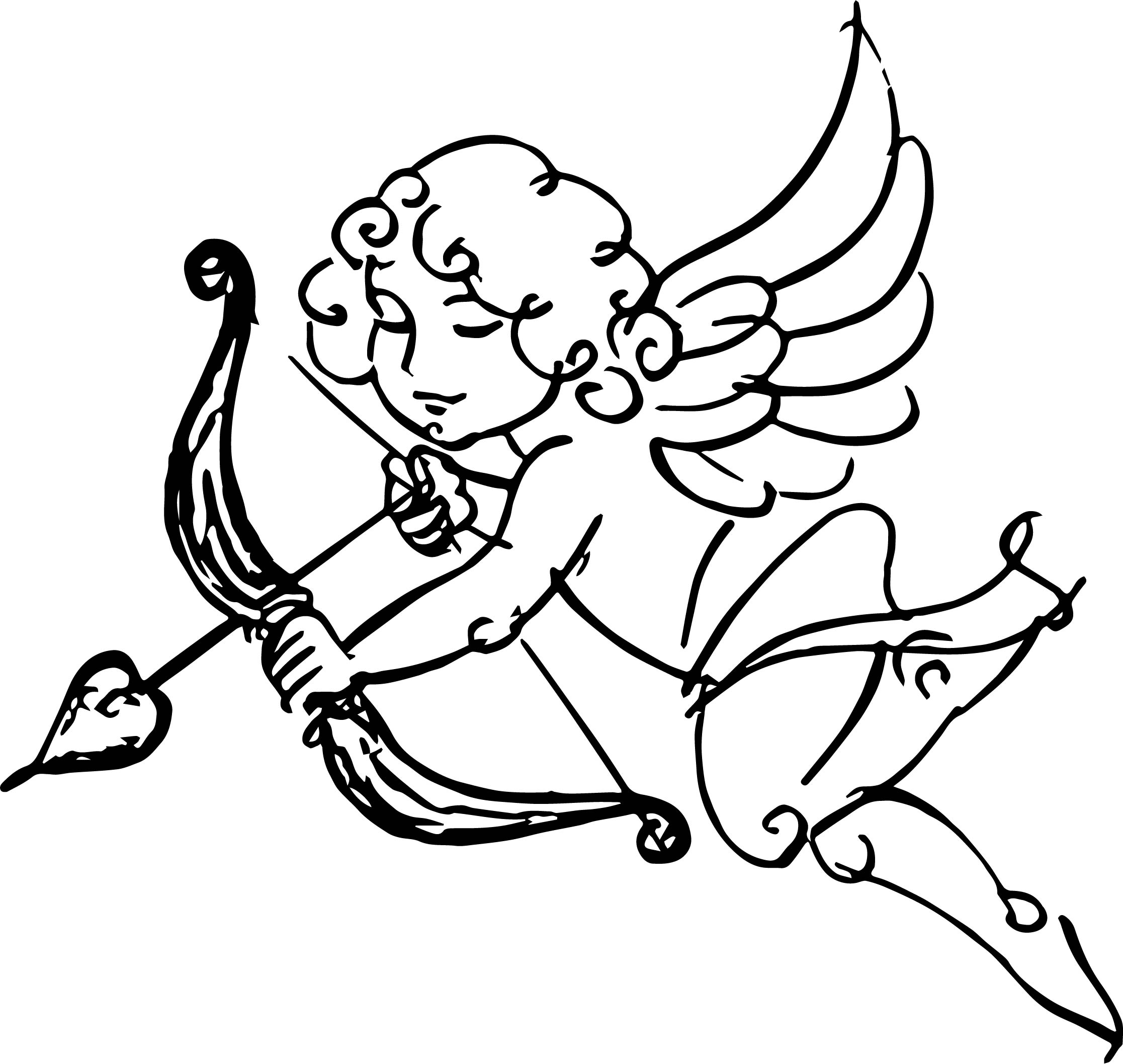 Happy Girl Cupido Coloring Page